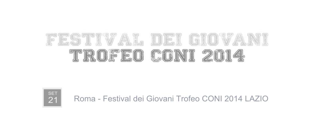 LOCANDINA FESTIVL DEI GIOVANI TROFEO CONI LAZIO 2015