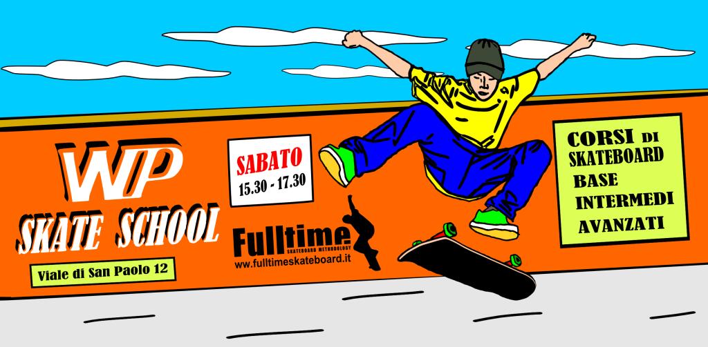 Sabato 5 / 09 / 2015 dalle 15.30 alle 17.30 ricominciano i corsi di skateboard per principianti, intermedi e avanzati, presso il Pontificio Oratorio San Paolo, Viale di San Paolo 12.