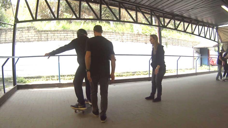 l piano di lezione delle curve frontside in conduzione con un gruppo di disabili visivi-7